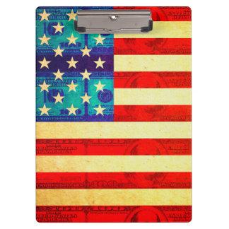 Amerika-Geldflagge Klemmbrett