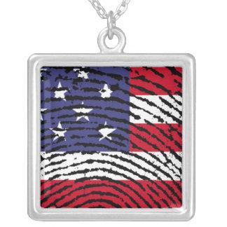 Amerika Halskette Mit Quadratischem Anhänger