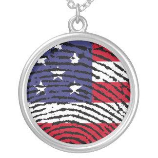 Amerika Halskette Mit Rundem Anhänger