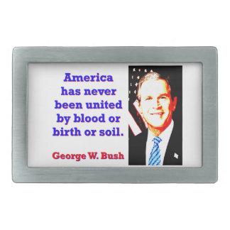 Amerika hat nie - G W Bush Rechteckige Gürtelschnalle