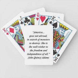 Amerika im Ausland - John Q Adams Bicycle Spielkarten