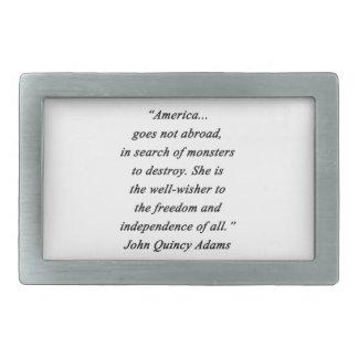 Amerika im Ausland - John Q Adams Rechteckige Gürtelschnalle