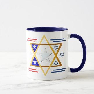 Amerika-Israel Tassen