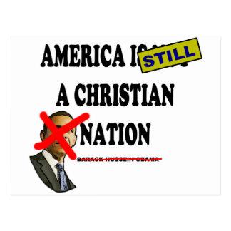Amerika ist noch eine christliche Nation Postkarte