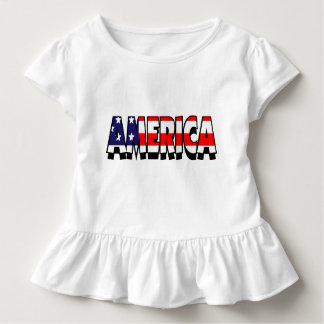 Amerika! Kleinkind RÜSCHE-T-STÜCK Kleinkind T-shirt