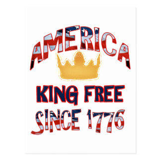 Amerika-König Free Postkarte
