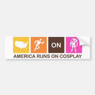 Amerika-Läufe auf Cosplay Autoaufkleber