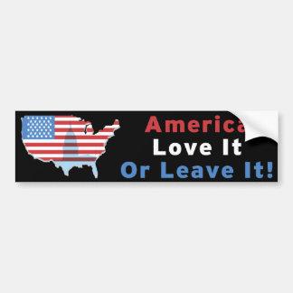 Amerika - Liebe verlässt es oder es! Autoaufkleber
