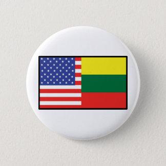 Amerika Litauen Runder Button 5,7 Cm