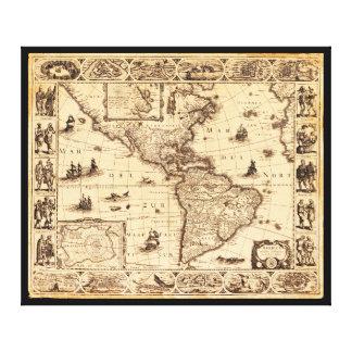 Amerika, Noviter Delineata Karte (1622) Leinwanddruck