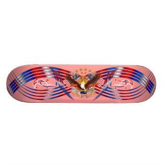 Amerika-Patriot wird nicht bitte sehen Anmerkungen Bedrucktes Skateboard