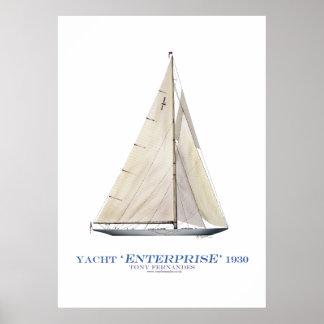 Amerika-Schalenyachtunternehmen 1930, tony Plakate