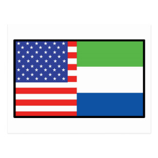 Amerika-Sierra Leone Postkarte