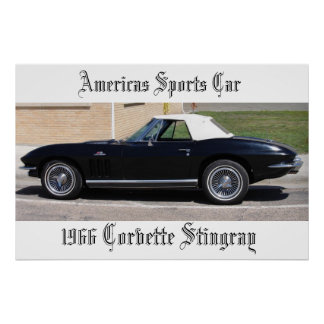 Amerika-SportCar-1966 Korvette Stingray Plakat