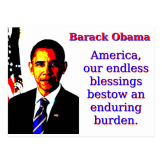 Amerika unser endloser Segen - Barack Obama Postkarten