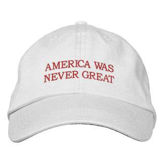 """""""Amerika war nie großer"""" Hut"""