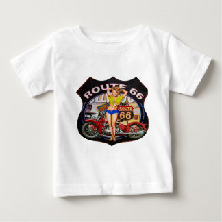 Amerika-Weg 66 mit einem Motorrad Baby T-shirt