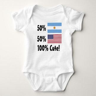 Amerikaner 100% 50% Argentinier-50% niedlich Baby Strampler