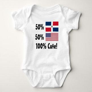 Amerikaner 100% 50% Dominikaner-50% niedlich Baby Strampler