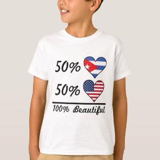 Amerikaner 50% Kubaner-50% 100% schön T-Shirt
