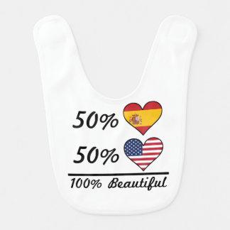 Amerikaner 50% Spanisch-50% 100% schön Babylätzchen