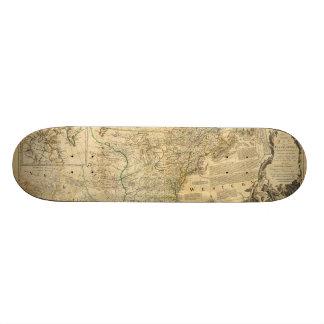 Amerikaner-Atlas-Karte Thomas Jefferys 1776 Personalisiertes Skateboard