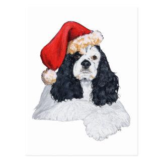 Amerikaner-Cocker spaniel-Weihnachten Postkarte