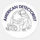 Amerikaner Detectorist runder Aufkleber