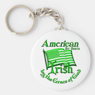Amerikaner durch die Geburt, irisch von Gnaden des Standard Runder Schlüsselanhänger