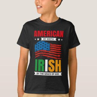 Amerikaner durch Geburt IREN von Gnaden des GOTTES T-Shirt