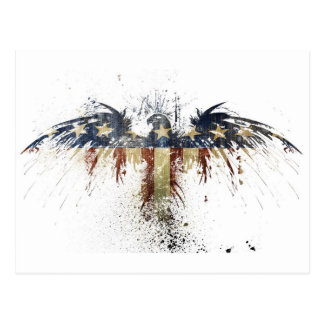 Amerikaner Eagle Abstract.jpg Postkarte