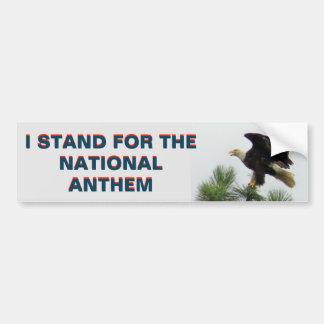 Amerikaner Eagle, das ich für die Hymne stehe Autoaufkleber
