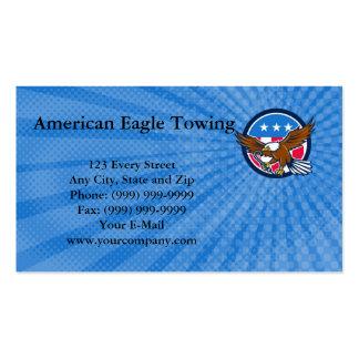 Amerikaner Eagle, das Visitenkarte schleppt