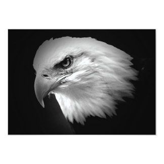 Amerikaner-Eagle-Einladung BWs kahle 12,7 X 17,8 Cm Einladungskarte