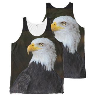 Amerikaner-Eagle-Fotografie-Druck Komplett Bedrucktes Tanktop