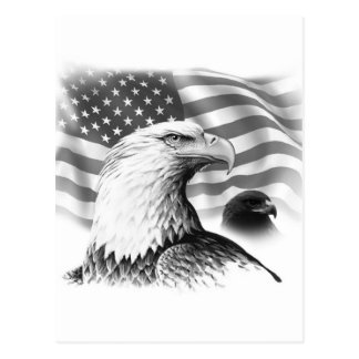 Amerikaner-Eagle-Gruß-Karte Postkarten