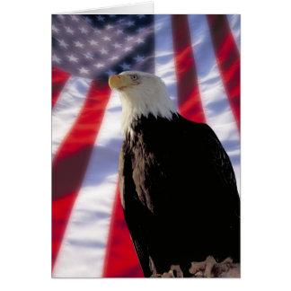 Amerikaner Eagle u. Flagge Notecard Mitteilungskarte