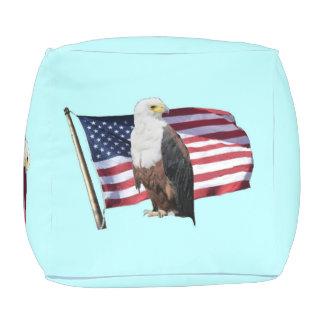 Amerikaner Eagle und amerikanische Flagge Hocker