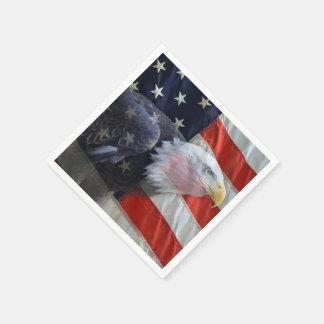Amerikaner Eagle und Flagge Papierservietten