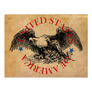 Amerikaner Eagle: USA Postkarte