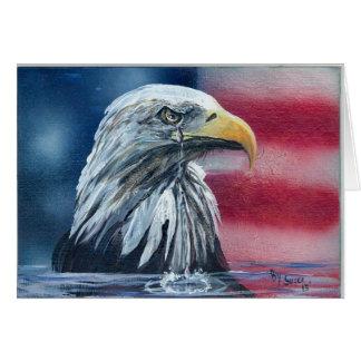 Amerikaner Eagle weint für Land-Karten Grußkarte