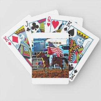 Amerikaner Flage Träger am Merbein Rodeo Bicycle Spielkarten