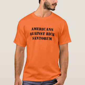 Amerikaner gegen T-Stück Rick Santorum T-Shirt