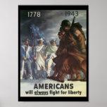 Amerikaner-Kampf-Weltkrieg 2 Plakate