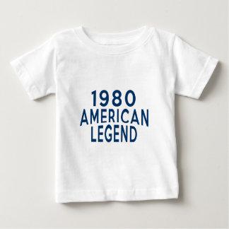 Amerikaner-Legenden-Geburtstags-Entwürfe 1980 Baby T-shirt