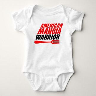 Amerikaner Mangia Kriegerbaby-Körper-Anzug Baby Strampler
