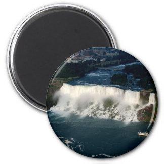 Amerikaner Niagara Falls: Luftaufnahme von Skylon Runder Magnet 5,1 Cm