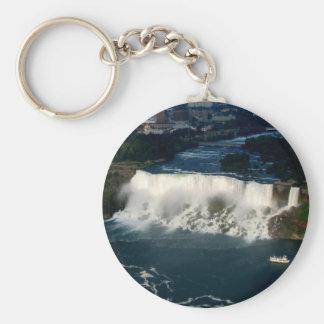 Amerikaner Niagara Falls: Luftaufnahme von Skylon Schlüsselanhänger