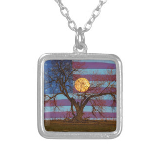 Amerikaner November Supermoon Versilberte Kette