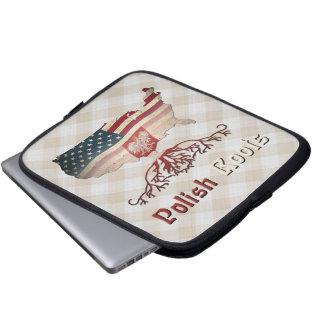 Amerikaner-polnische Wurzel-Laptop-Tasche Laptop Sleeve